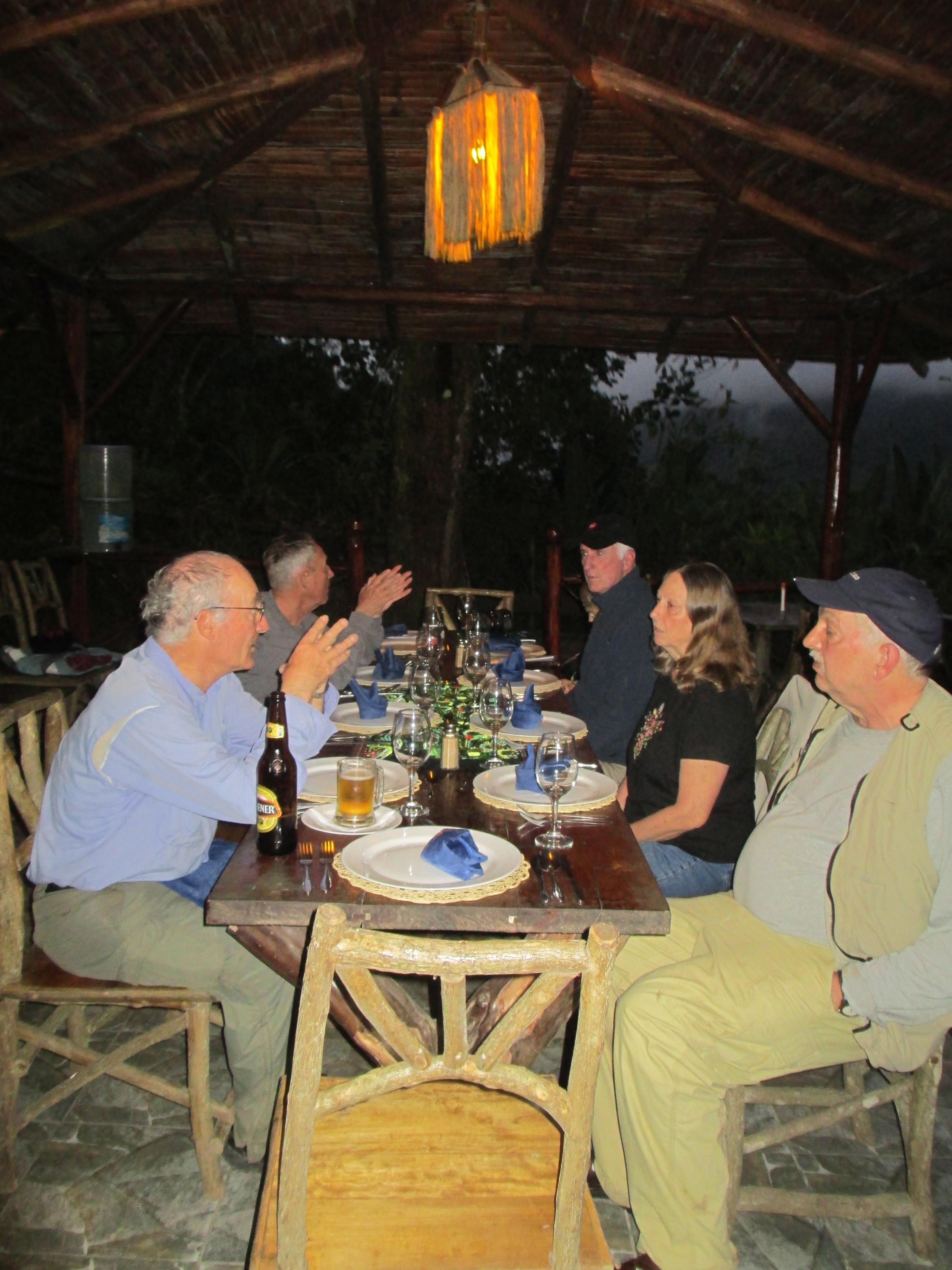 Dinner at San Jorge de Tandayapa Lodge