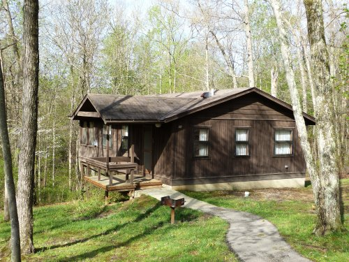 Our cabin in Shawnee State Park