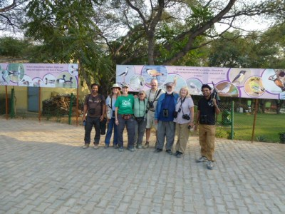 Our group of birders outside Sultanpur National Park