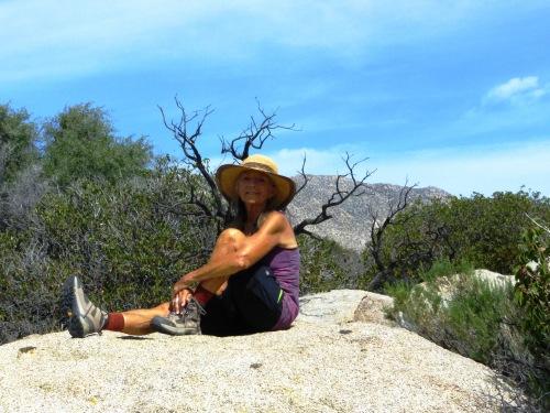 Myrna at the Pena Spring trailhead