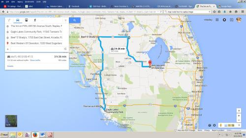 Our route on Friday