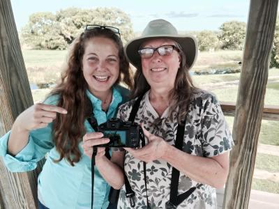 Mariel and I celebrating my 600th ABA bird