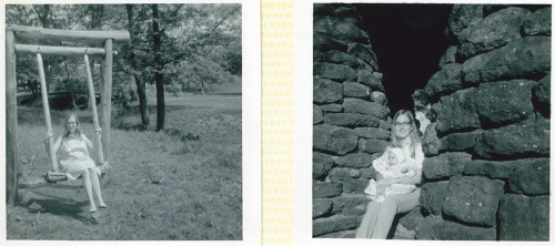 Me shortly before and just after the birth of my son David in 1968 I think the photos were taken at Bastrop State Park.