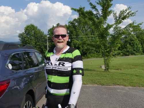 David was happy and smiling after riding 115 miles!