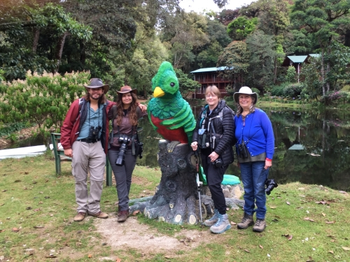 "Left to Right: Paul, Amanda, ""Resplendent Quetzal"", Diane, Shelley"